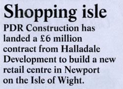 Major Retail Scheme on Holiday Island