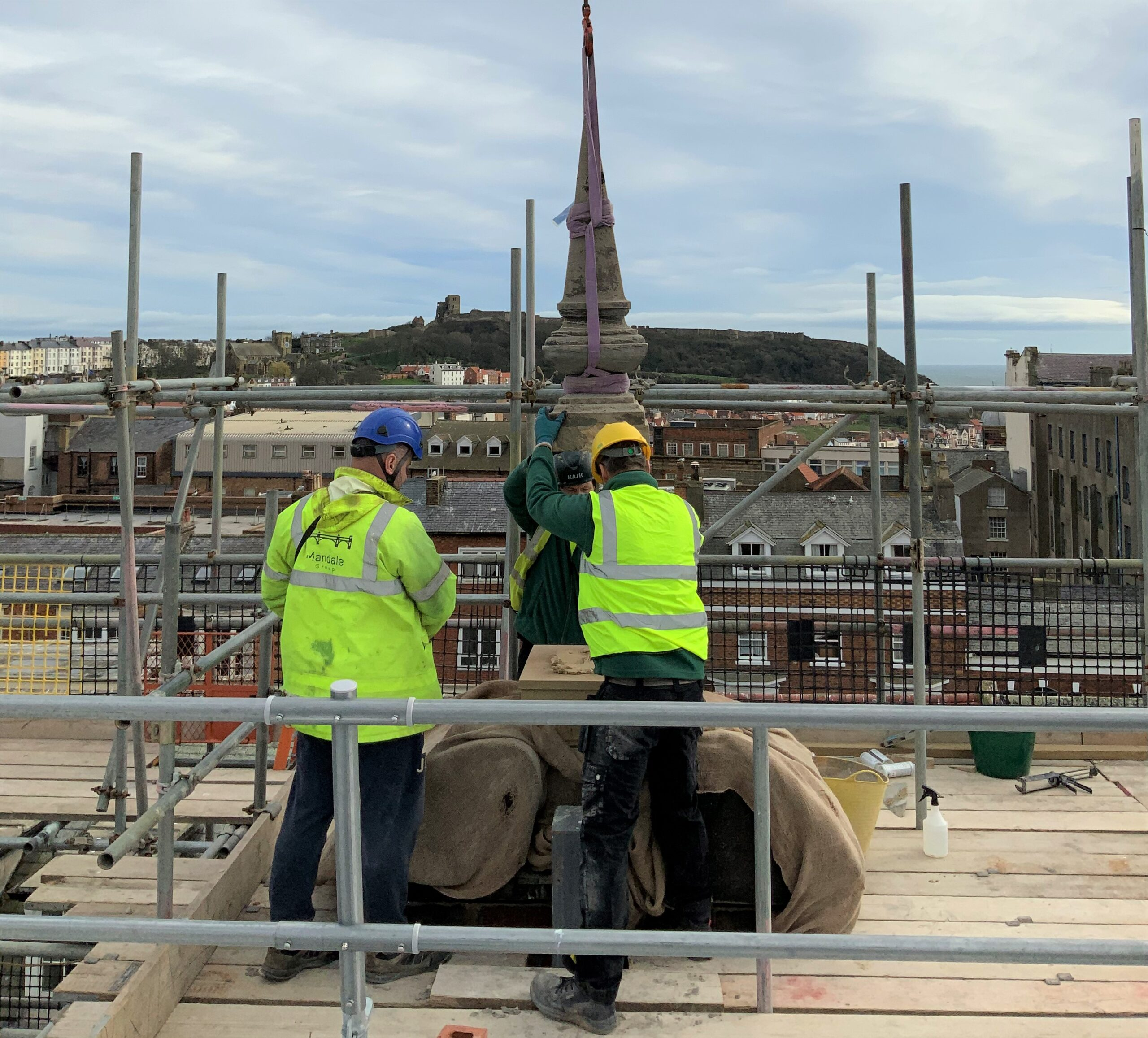 Topping out at Premier Inn, Scarborough
